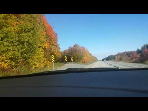Driving on the 40 from Montreal to Quebec City
