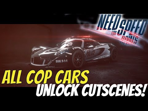 Need For Speed Rivals All Police Cars Unlock Cutscenes! 1080P Full HD