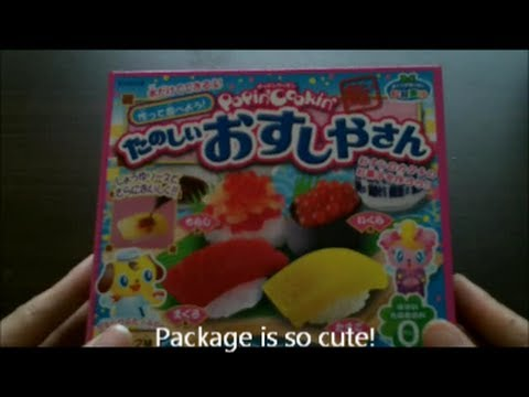 Kracie - Popin' Cookin' sushi (step by step)  クラシエ-知育菓子