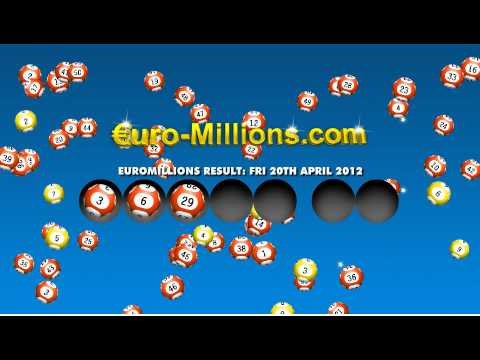 Euromillions Results for Friday 20th April 2012