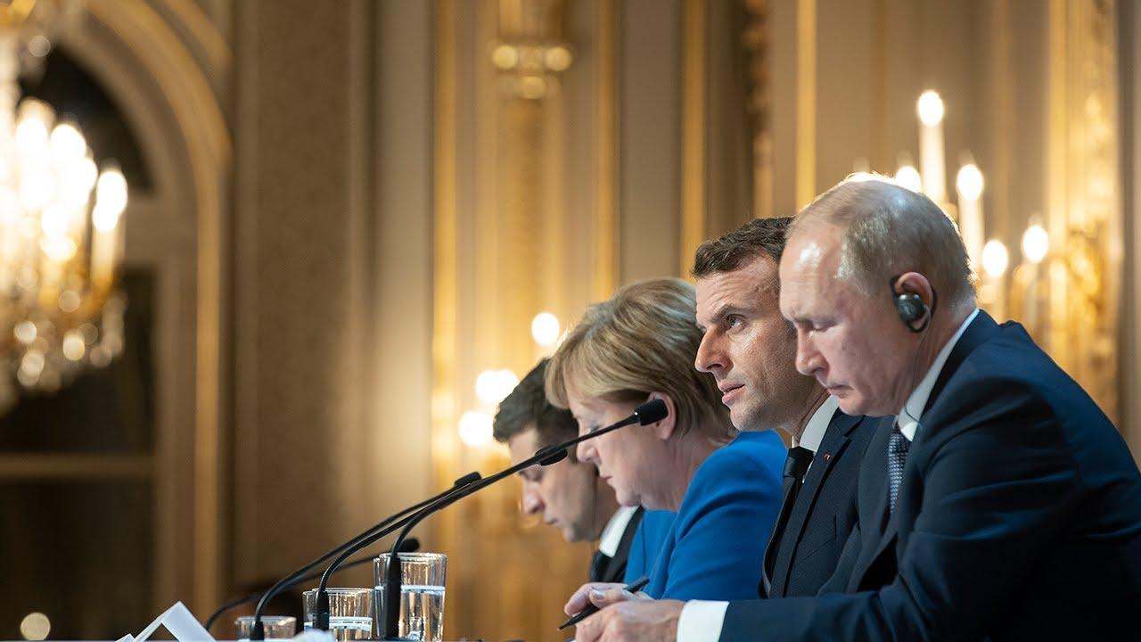 """Conférence de presse à l'issue du Sommet au format dit """"Normandie"""""""
