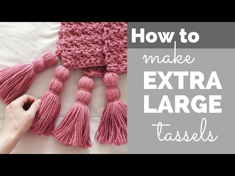 How to Make Extra Large Tassels for a Blanket