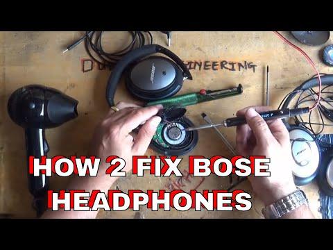 DuB-EnG: Repair BOSE QC35 QC25 QC15 Quality Headphones Fix Faulty Quality Problems One Speaker Work