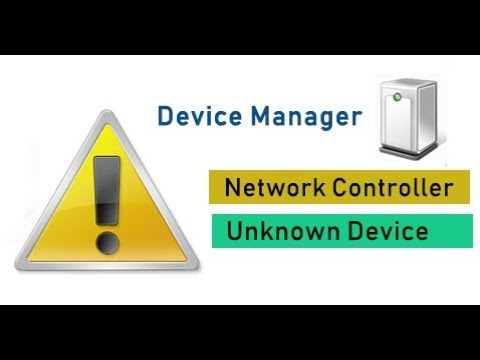 How to fix yellow sign Network controller on Device manager