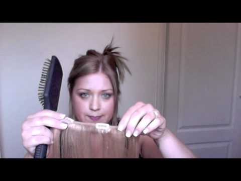 How To Clip in Halo Hair Extensions and How To Colour Them If They Don't Match Your Hair
