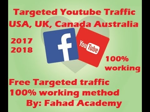 How to get Targeted Youtube Traffic (USA, UK, Canada, Australia) from FaceBook 2017