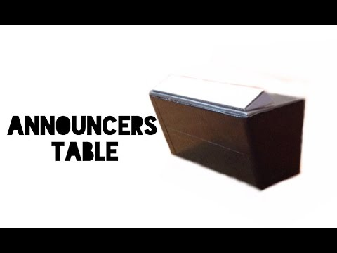 How to make a WWE Announcers Table for Figures