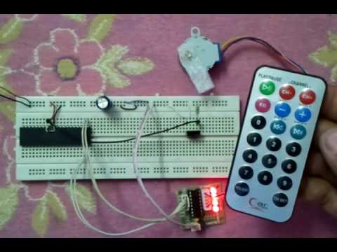 Remote Controller Unipolar Stepper Motor Using PIC18F4550 microcontroller