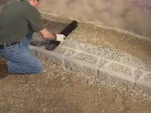 How to build two sided patio walls for your landscape