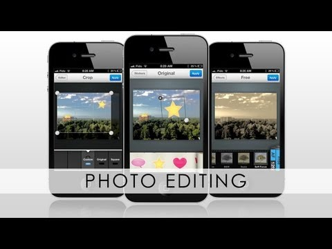 How to EDIT PHOTOS on iPhone 5/4S/4/3GS, iPod and iPad