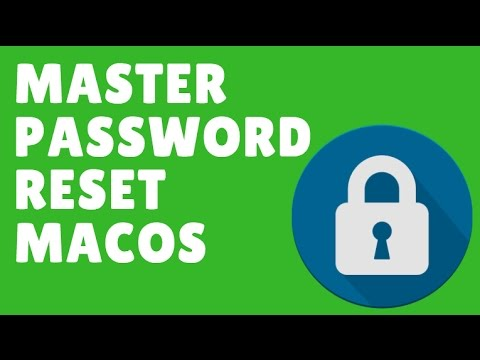 How to reset master password macOS Sierra