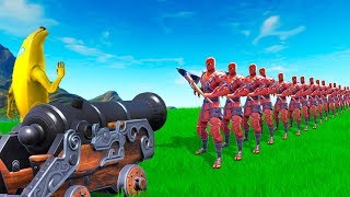 HOW MANY PLAYERS Can 1 CANNON Kill in Fortnite!