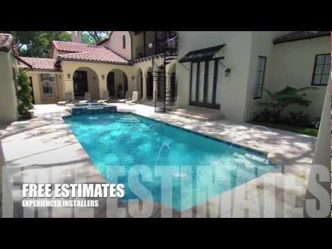 Pavers over concrete patio and pool