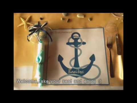 Christening for a baby boy with sea themed | Mariam Designs