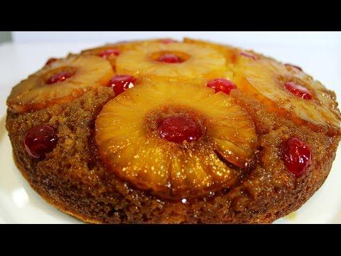 Pineapple Upside-Down Cake                          كيكة الاناناس المقلوبة