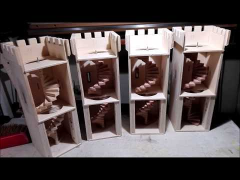 Wooden Toy Castle DIY ,, HOW to MAKE ,, Part 2