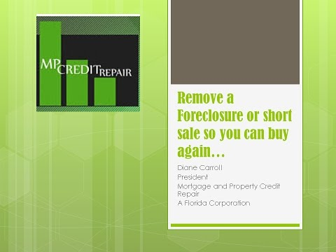 Foreclosure and your credit score