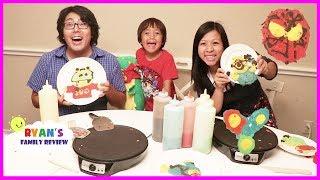 Family Pancake Art Challenge Mommy VS Daddy!
