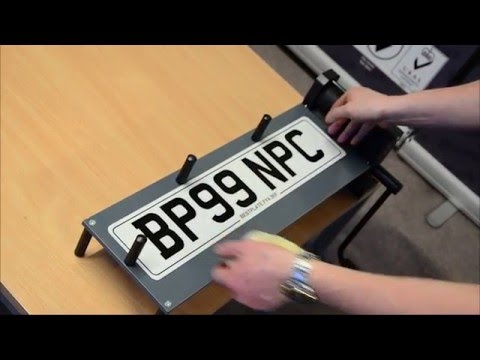 How to Print a Number Plate
