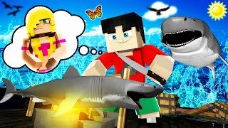 Minecraft RAFT - EAT THE SHARK!