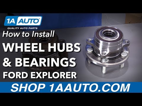 How to Install Front Wheel Bearing and Hubs 11-16 Ford Explorer