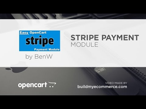 Accept Credit Cards Online - Overview Video (Easy OpenCart Stripe Payment Module)