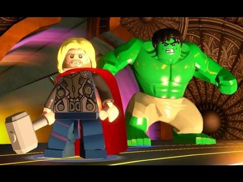 LEGO Marvel's Avengers - Asgard Hub Free Roam Gameplay