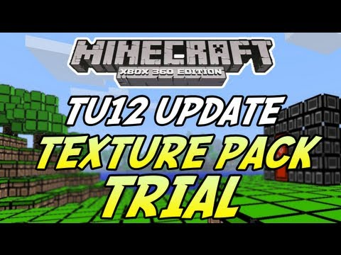 Minecraft (Xbox 360) - TU12 Update - Texture Pack TRIAL PACK + Info! (Mash-up Packs)