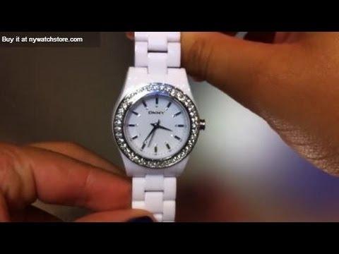 Women's DKNY White Plastic Watch NY8145