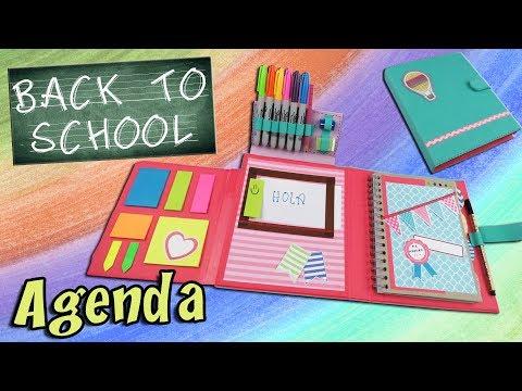 DIY NOTEBOOK ORGANIZER - HOW TO MAKE A ORGANIZER BACK TO SCHOOL | aPasos Crafts DIY