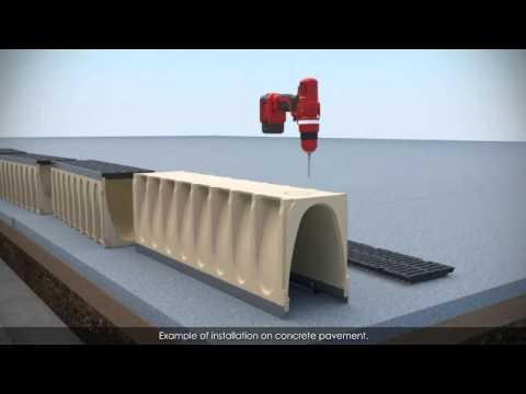 How to install ULMA's polymer concrete drainage channels