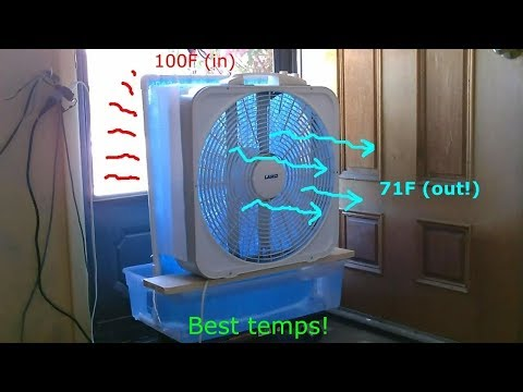 DIY Evap Air Cooler! - JUMBO SIZED! Final version! (MAX cooling!) - Large Area Evap! - ez DIY