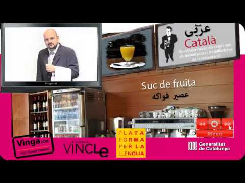 Learn Catalan - Catalan for arab waiters