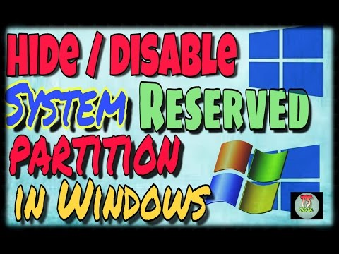 How to disable System Reserved drive