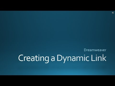 Adobe Dreamweaver: Creating a Datadriven Dynamic Link