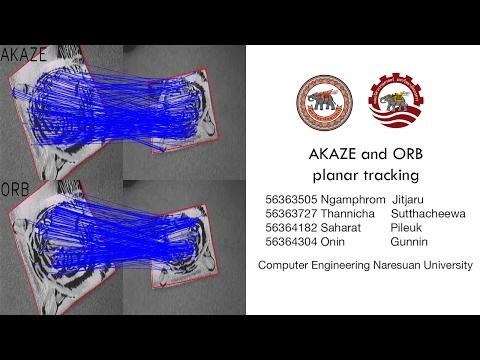 OpenCV Tutorial : AKAZE AND ORB planar tracking