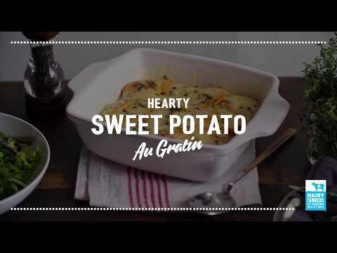 Hearty Sweet Potato Au Gratin   2018 Milk Calendar