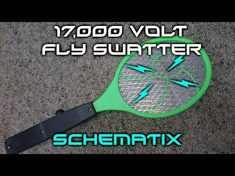 How To: 'SUPERCHARGE' an electric fly swatter to 17k+ volts!