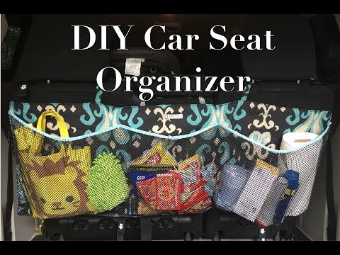 DIY Car Seat Organizer # sewing project No.16