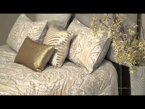 Modern living Taj Bedding Set with Optional Pillows