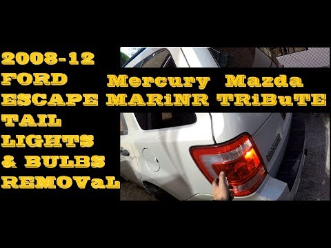 How to replace remove change Tail light and bulb in 08-12 Ford Escape Mazda Tribute Mercury Mariner
