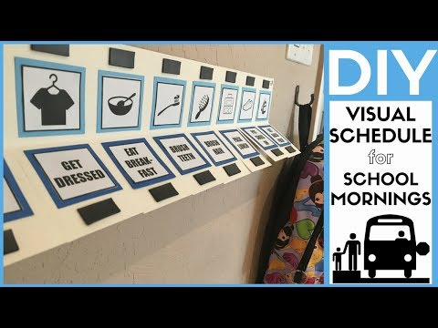 DIY VISUAL SCHEDULE (for school morning routine)
