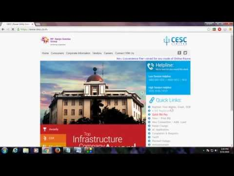 How to download CESC Electric Bill