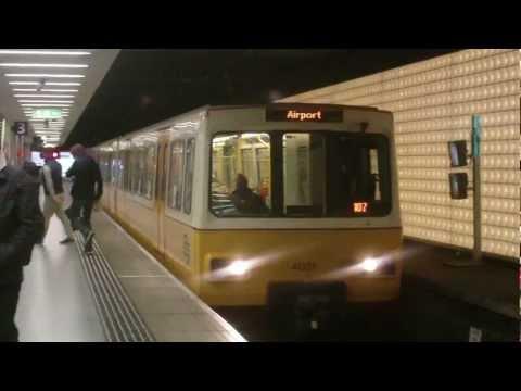 Tyne and Wear Metro-Metrocars 4001 and 4052 depart Sunderland