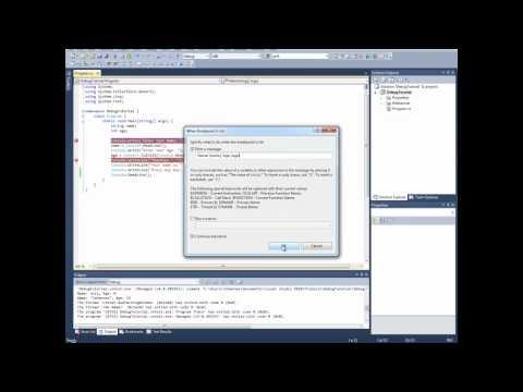 Debugging in Visual Studio 2010