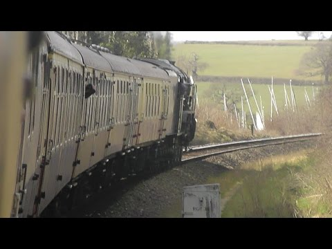 A1 Steam Loco 60163 on the Devon Belle from London Waterloo to Exeter SD & Reutrn 2/4/16