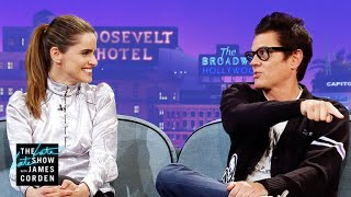 Johnny Knoxville & Amanda Peet Are Very Competitive Parents