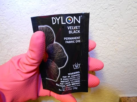 DIY episode #5-How to Permanently Dye Clothes with DYLON fabric dye!