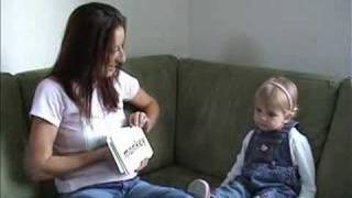Emily reading at 17 months