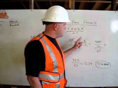 cubic yard formula